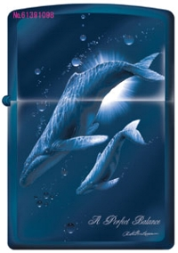 ラッセンZIPPO&香水セット<Kissing Dolphins>